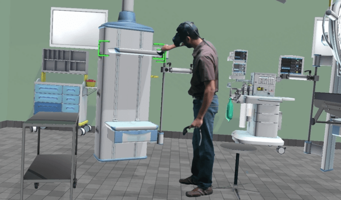 Virtual Reality Operating Room Configuration with Powertrak 3D CPQ
