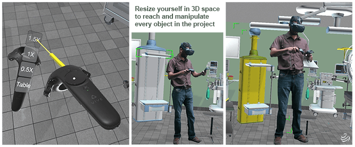 Flexible Room Scaling Feature in Virtual Reality Configurations
