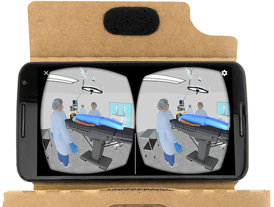 Surgical Suite VR on Mobile Phone