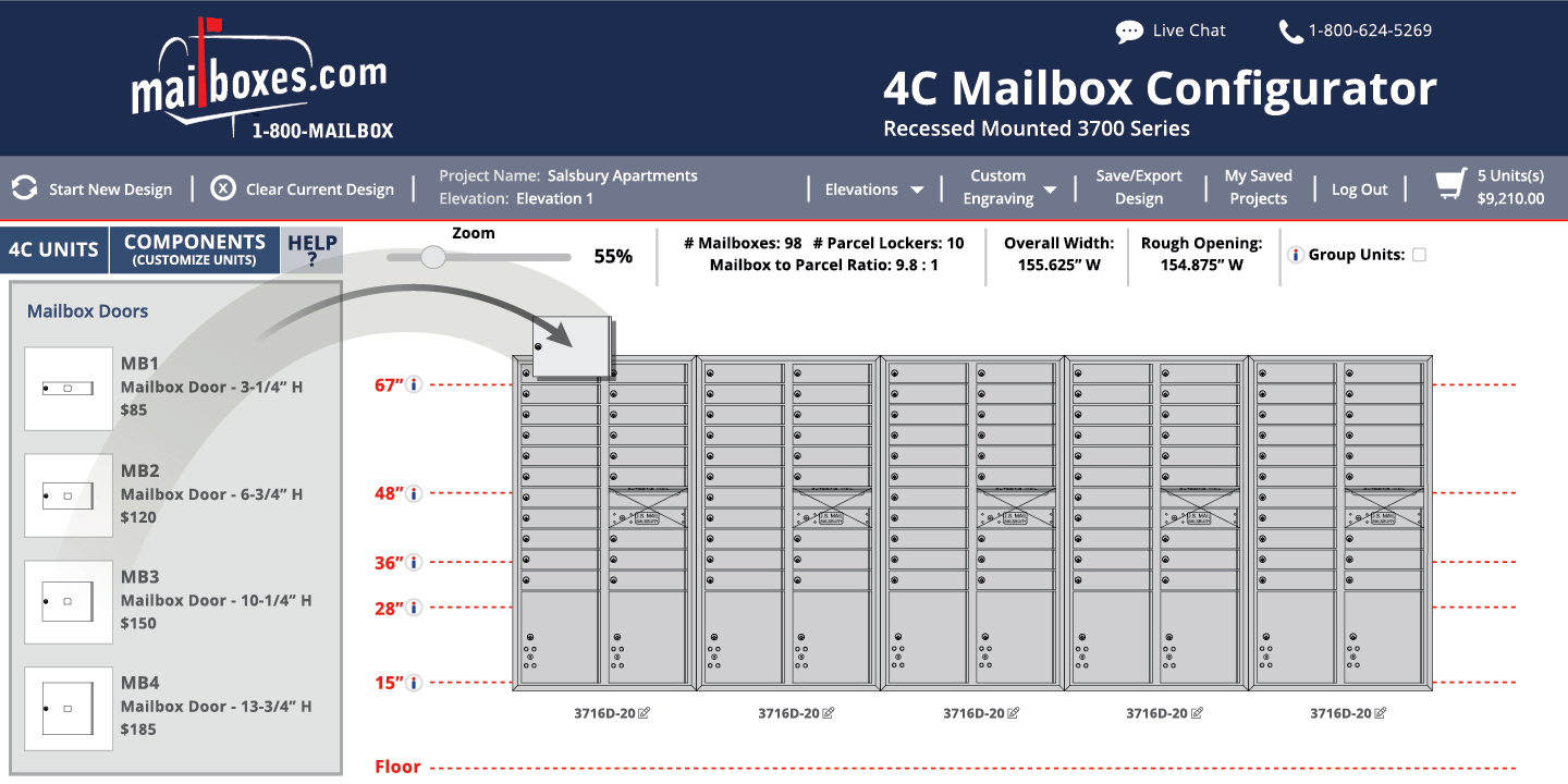 2D Visual Mailboxes Configurator