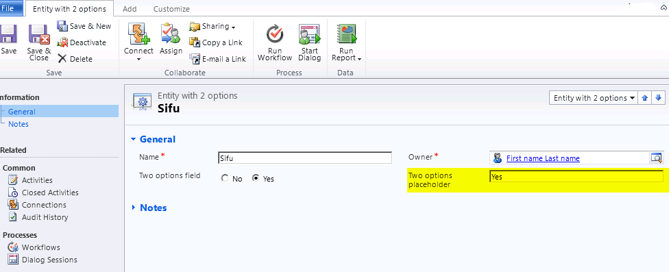 CRM 2011 Dialog: Creating a record with no custom coding