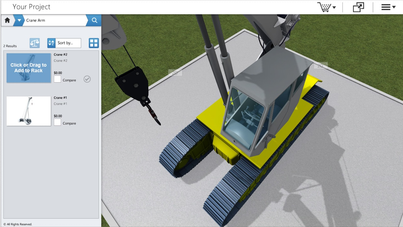 Crane and Lift Configurations by Powertrak 3D CPQ