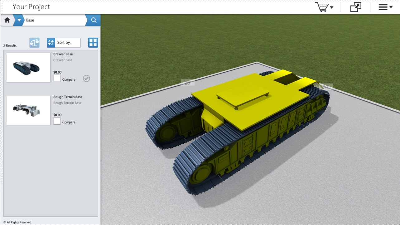 Heavy Equipment Product Configuration by Powertrak 3D CPQ