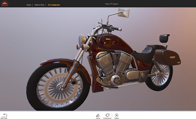 3D Configurator for Motorcycle
