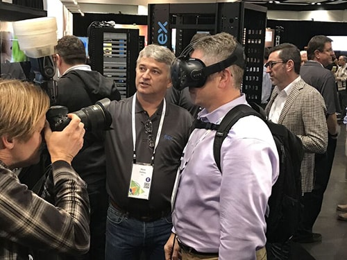 Virtual Reality Data Center Racks at OCP 2017