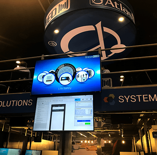 2D Rack Designs at AtlasIED booth at InfoComm 2017