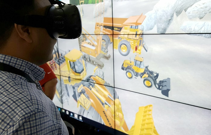 HTC Vive Demo of Heavy Equipment Machinery at Conexpo