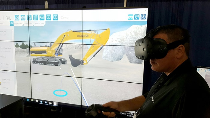 Excavator demo in Virtual Reality at CONEXPO