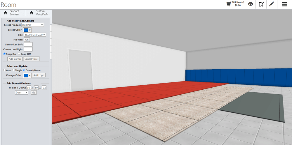 Flooring Auto-fill in Floor Space Planning