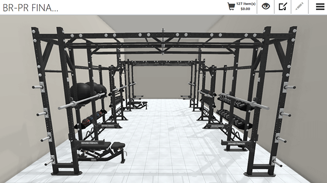 Visual Configuration for Athletic Rigs and Racks
