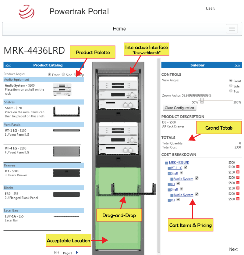 2D Product Configurator by Powertrak CPQ