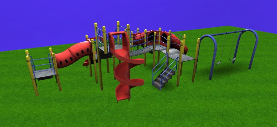 Custom design outdoor playsystems with Powertrak 3D Configurator