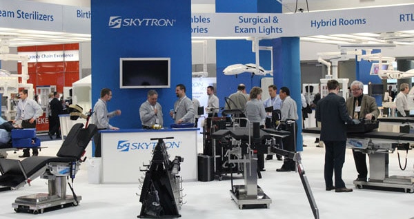 Skytron Exhibits Booms and Lights at AORN
