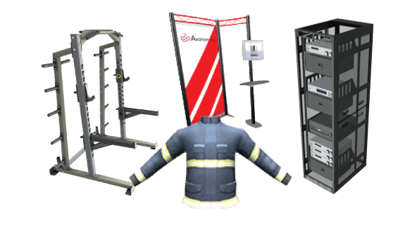 3D Product Configurator for apparel, racks and enclosures, mailboxes